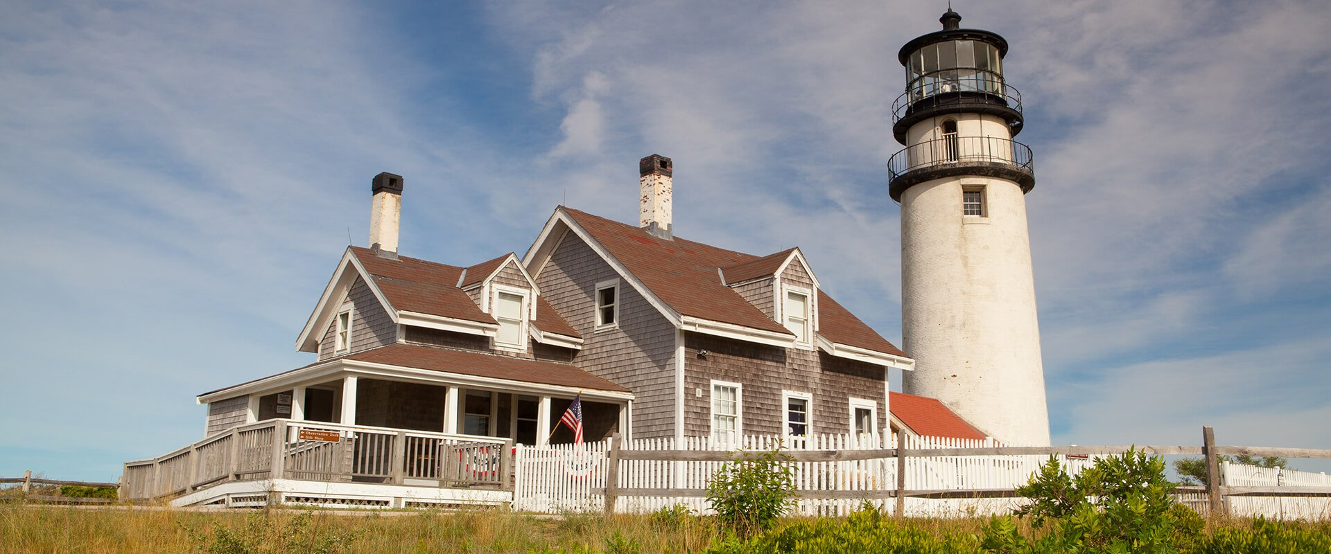 The Highland Light on the Cape Cod, Massachsetts